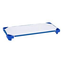 "Blue Stackable Daycare Cot w/ Cot Sheet - Standard (52\"" L)"
