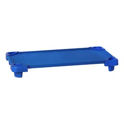 "Blue Stackable Daycare Cot - Standard (52"" L) - Pack of 18 Cots w/ Set of Four Casters"