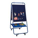 Magnetic Dry Erase/Flannel Board Preschool Teacher's Easel w/ Accessories