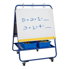 "Dry Erase/Flannel Board Preschool Teacher\'s Easel - 35 1/2"" W x 52\"" H"