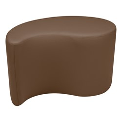 "Shapes Vinyl Soft Seating - Teardrop (18"" H) - Chocolate"