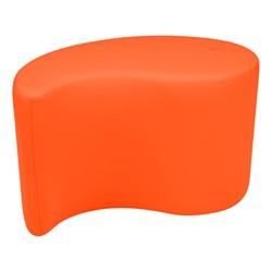 "Shapes Vinyl Soft Seating - Teardrop (18"" H) - Orange"