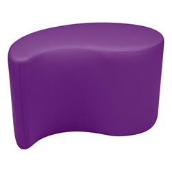 "Shapes Vinyl Soft Seating - Teardrop (18"" H) - Purple"