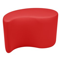 """Shapes Vinyl Soft Seating - Teardrop (18"""" H) - Red"""