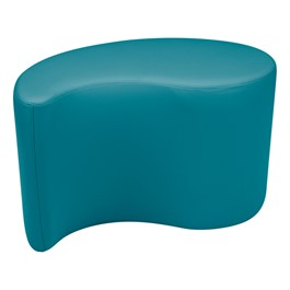 "Shapes Vinyl Soft Seating - Teardrop (18"" H) - Teal"