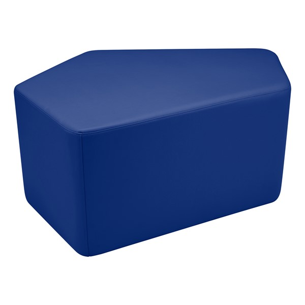"Shapes Vinyl Soft Seating - CommuniEDI (18"" H) - Blue"
