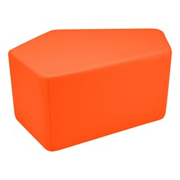 "Shapes Vinyl Soft Seating - CommuniEDI (18"" H) - Orange"