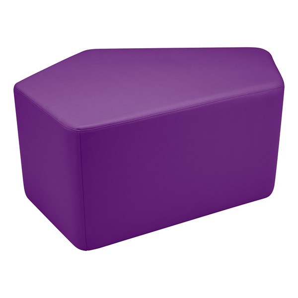 "Shapes Vinyl Soft Seating - CommuniEDI (18"" H) - Purple"