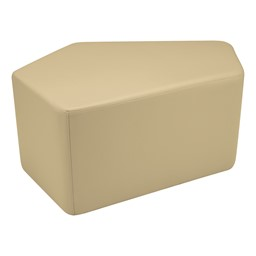 "Shapes Vinyl Soft Seating - CommuniEDI (18"" H) - Sand"