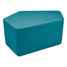 "Shapes Vinyl Soft Seating - CommuniEDI (18"" H) - Teal"
