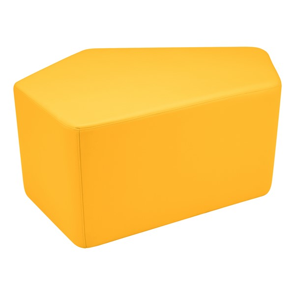 "Shapes Vinyl Soft Seating - CommuniEDI (18"" H) - Yellow"
