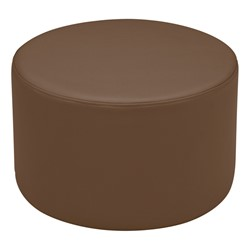 "Shapes Vinyl Soft Seating - Cylinder (12"" H) - Chocolate"
