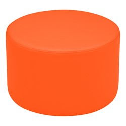 "Shapes Vinyl Soft Seating - Cylinder (12"" H) - Orange"