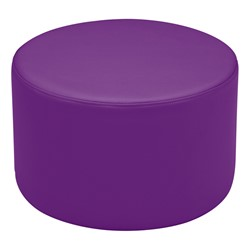 "Shapes Vinyl Soft Seating - Cylinder (12"" H) - Purple"