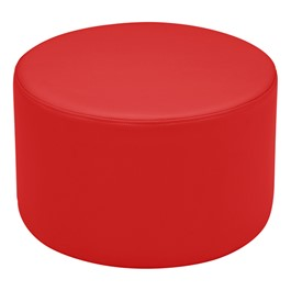 "Shapes Vinyl Soft Seating - Cylinder (12"" H) - Red"