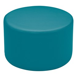 "Shapes Vinyl Soft Seating - Cylinder (12"" H) - Teal"