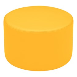 "Shapes Vinyl Soft Seating - Cylinder (12"" H) - Yellow"