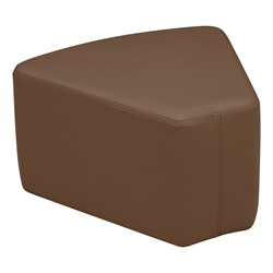 "Shapes Vinyl Soft Seating - Wedge (12"" H) - Chocolate"