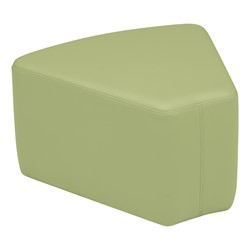 "Shapes Vinyl Soft Seating - Wedge (12"" H) - Fern Green"