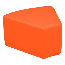"Shapes Vinyl Soft Seating - Wedge (12"" H) - Orange"