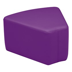 "Shapes Vinyl Soft Seating - Wedge (12"" H) - Purple"