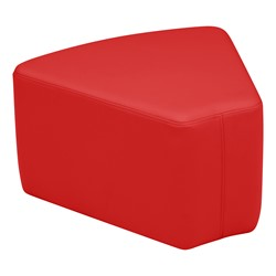 "Shapes Vinyl Soft Seating - Wedge (12"" H) - Red"