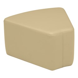 "Shapes Vinyl Soft Seating - Wedge (12"" H) - Sand"