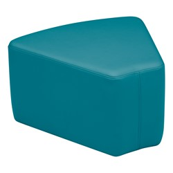 "Shapes Vinyl Soft Seating - Wedge (12"" H) - Teal"