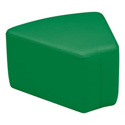 "Primary Colors Reading Center - Shapes Soft Seating - Wedge (12"" H)"