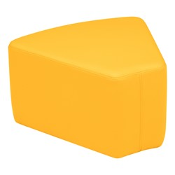 "Shapes Vinyl Soft Seating - Wedge (12"" H) - Yellow"