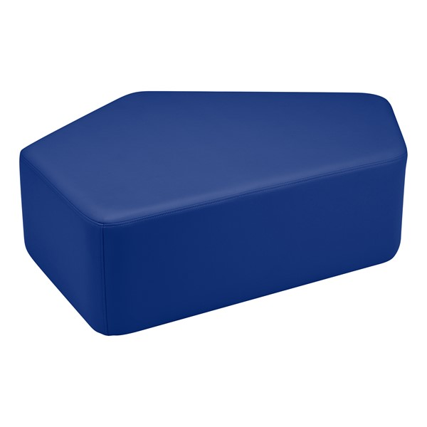 "Shapes Vinyl Soft Seating - CommuniEDI (12"" H) - Blue"