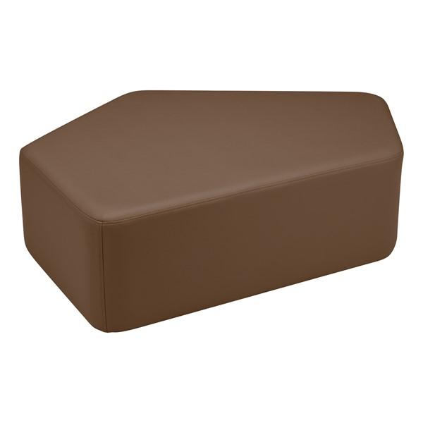 "Shapes Vinyl Soft Seating - CommuniEDI (12"" H) - Chocolate"