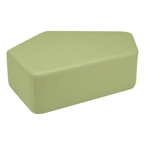 "Shapes Vinyl Soft Seating - CommuniEDI (12"" H) - Fern Green"