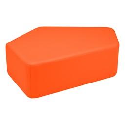 "Shapes Vinyl Soft Seating - CommuniEDI (12"" H) - Orange"
