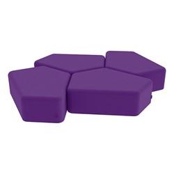 """Shapes Vinyl Soft Seating - 12"""" H CommunEDI Four Pack - Purple"""