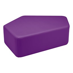 "Shapes Vinyl Soft Seating - CommuniEDI (12"" H) - Purple"