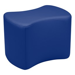 """Shapes Vinyl Soft Seating - Bow Tie (18"""" H) - Blue"""