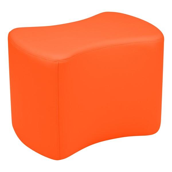 "Shapes Vinyl Soft Seating - Bow Tie (18"" H) - Orange"