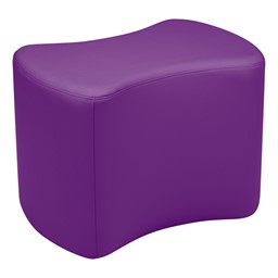 """Shapes Vinyl Soft Seating - Bow Tie (18"""" H) - Purple"""