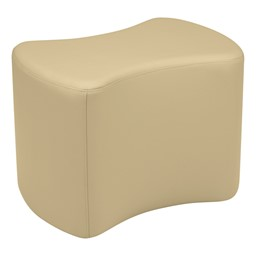 """Shapes Vinyl Soft Seating - Bow Tie (18"""" H) - Sand"""