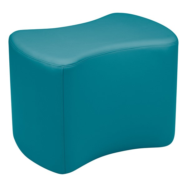 """Shapes Vinyl Soft Seating - Bow Tie (18"""" H) - Teal"""