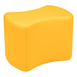 """Shapes Vinyl Soft Seating - Bow Tie (18\"""" H) - Yellow"""