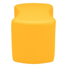 """Shapes Vinyl Soft Seating - Bow Tie (18"""" H) - Yellow"""