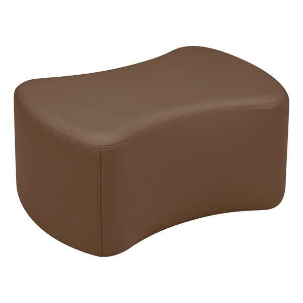 "Shapes Vinyl Soft Seating - Bow Tie (12"" H) - Chocolate"