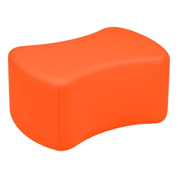 "Shapes Vinyl Soft Seating - Bow Tie (12"" H) - Orange"