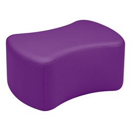 "Shapes Vinyl Soft Seating - Bow Tie (12"" H) - Purple"