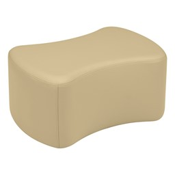 "Shapes Vinyl Soft Seating - Bow Tie (12"" H) - Sand"