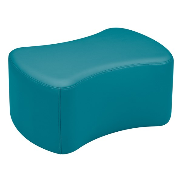 "Shapes Vinyl Soft Seating - Bow Tie (12"" H) - Teal"