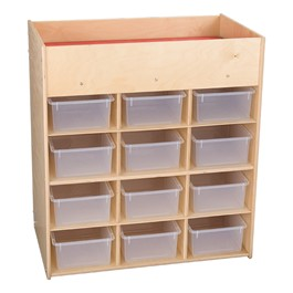 Economy Daycare Changing Station w/ 12 Clear Cubby Trays