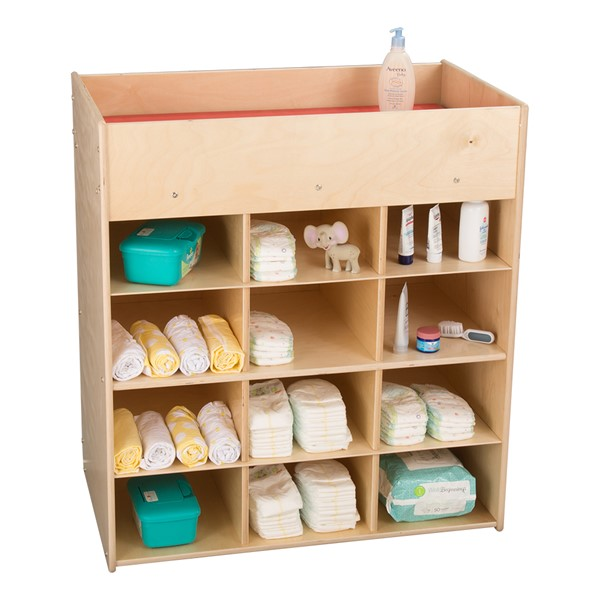 Economy Daycare Changing Station w/ 12 Cubbies